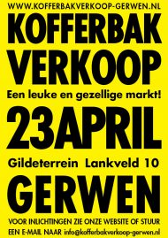 Kofferbakverkoop Gerwen 23 april 2017